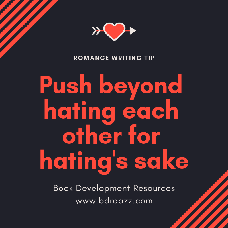 push beyond hating each other for hating's sake