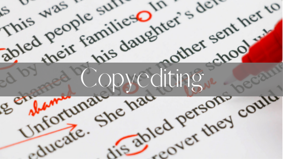 Copyediting title on proofread document