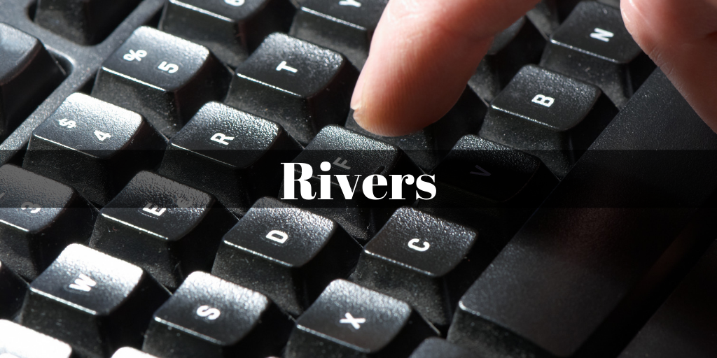 rivers title on top of black keyboard