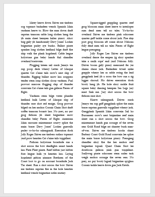 full page of text riddled with rivers